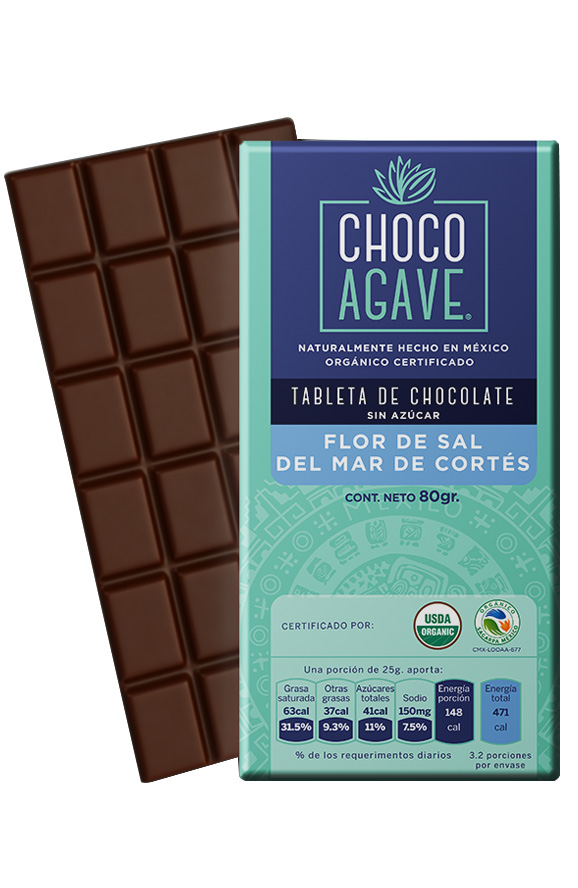 71% CACAO BAR WITH FLOWER OF SALT OF MAR DE CORTÉS