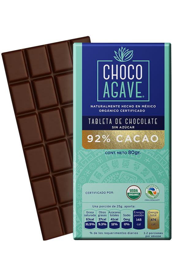 92% CACAO BAR Exquisite chocolate bar with <b>92% cacao</b>, carefully made from organic cacao and organic agave syrup.<br><br>
