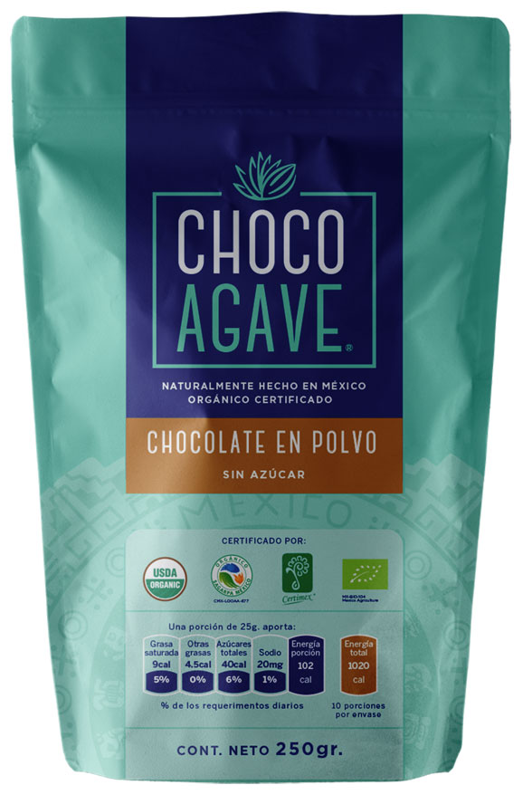 POWDERED CHOCOLATE Delicious chocolate powder carefully made with organic cacao, organic agave syrup and organic cinnamon.<br><br>