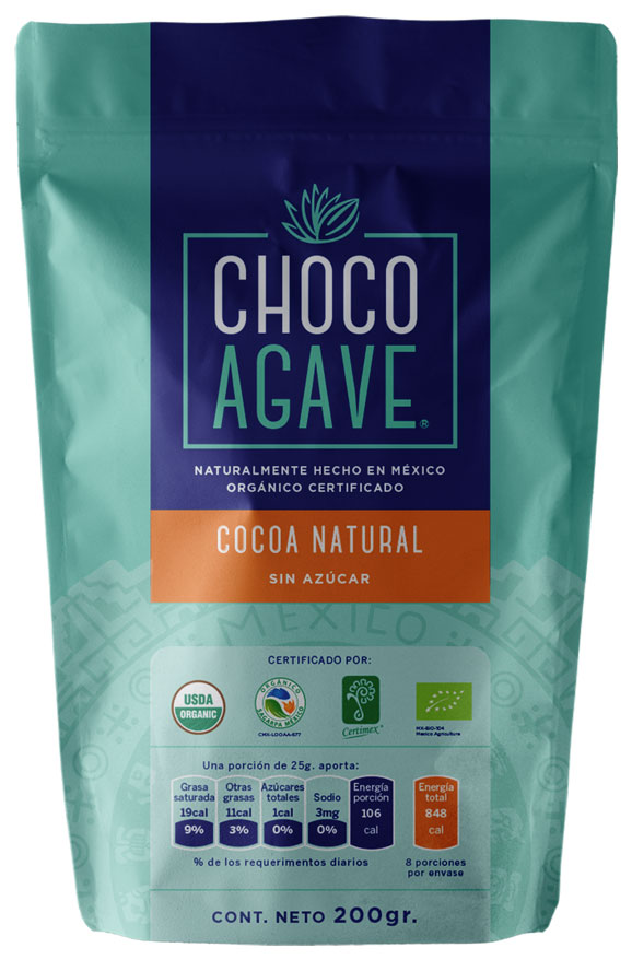 NATURAL CACAO WITHOUT SUGAR Delicious natural and organic cacao. <br><br>